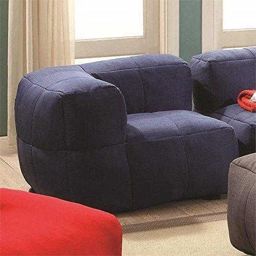 Phenomenal Coaster Lazy Life Corner Bean Bag In Navy Machost Co Dining Chair Design Ideas Machostcouk