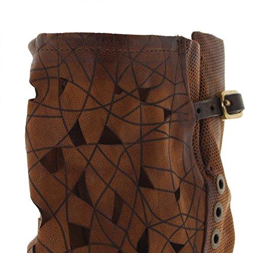 Stivali Moda Fb As98 259327 Stivali Castagna In Pelle Per Donna Stivali Marrone Donna Castagna