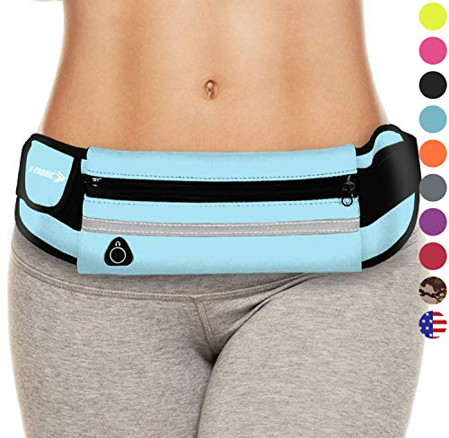 Fanny Packs for Women: Best Waist Pack Running Belt Pouch for Phone (Blue) Fannie Pack Bag Gifts for Mom Ladies Girlfriends Her. Top Womens Birthday Gift Ideas 2019 for Mothers Daughters Grandma etc