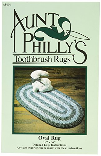Aunt Philly's Toothbrush Quilts AP101 Oval Toothbrush Rug (Toothbrush Rag Rug)