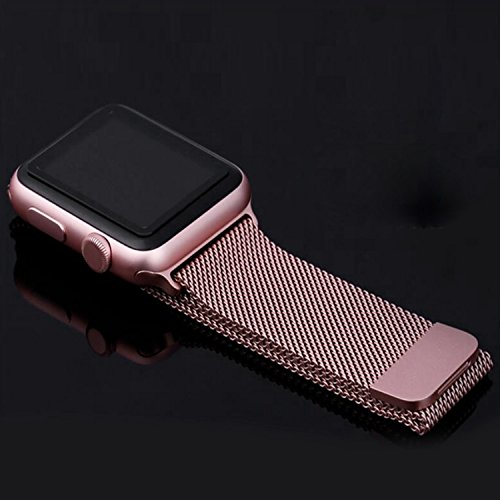 OROBAY Watch Band 38mm 42mm, Stainless Steel Milanese Mesh