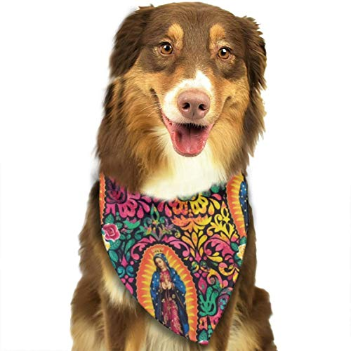 TLDRZD Dog Bandana Virgin Mary Religious Catholic Pet