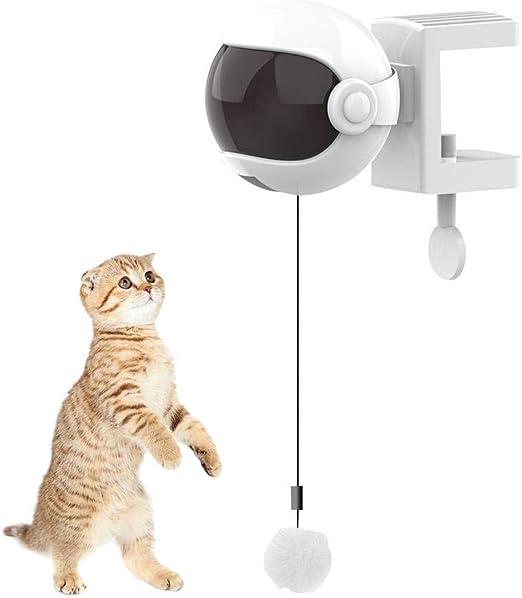 VERLOCO Juguete De Gato Electrico, Resorte De Elevación Automática Bola De Gato Gracioso, Juguetes Colgantes para Gato Mascota, Juguetes Interactivos Juega Solo Favoritos De Gatos 60 X 4 Cm: Amazon.es: Productos para