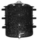 Granite Ware 12-Quart Enamel-on-Steel 3-Tier Shore Dinner Pot with Faucet