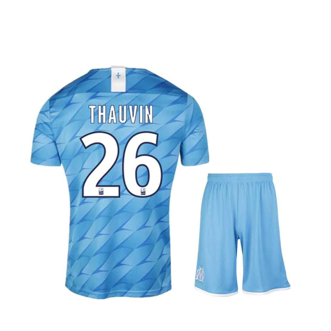 Rayuwen Maillot Foot Club Formation De Football De L/éCole Kit #26 Florian Thauvin Sweat Jersey Tops V/êTements pour Jeunes Adultes