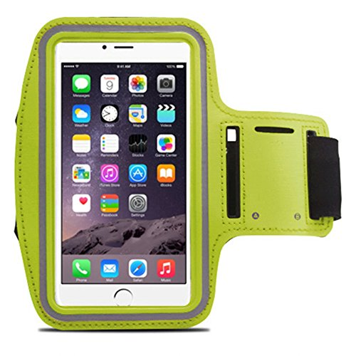 Lt044 Iphone6 Plus Armband , Xboun[sport]style Sweatproof [Vogue] Apple Iphone6 Plus Armband 5.5 Inch Easy Fitting Sport Running Armband with Premium Flexible Case Combo for Iphone 6 Plus Cover (Green)