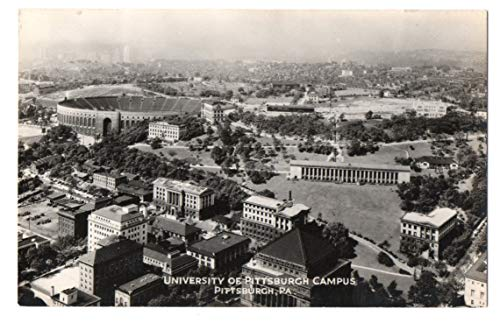 Vintage Unused Postcard of aerial view of the University of Pittsburgh 143650 from Best Authentics