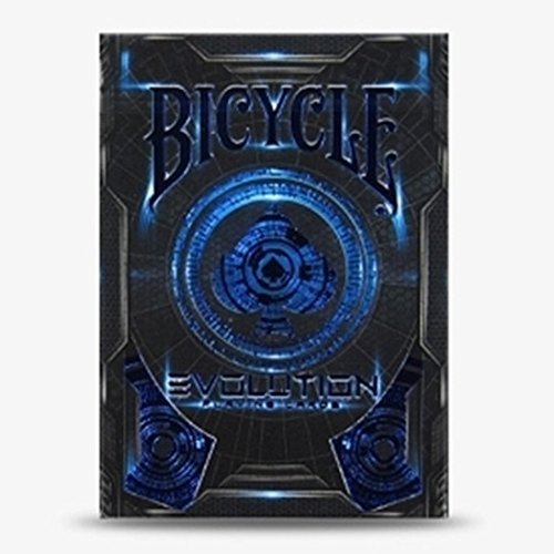 - Bicycle Evolution Playing Cards Air-Cushion Finish Deck Poker Blue