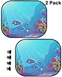 MSD Car Sun Shade Protector Side Window Block Damaging UV Rays Sunlight Heat for All Vehicles, 2 Pack Image ID 29611839 Underwater Landscape with Exotic Plants and Animals