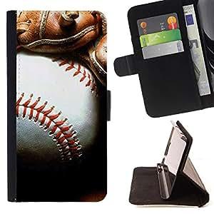 - MLB Baseball - - Prima caja de la PU billetera de cuero con ranuras para tarjetas, efectivo Compartimiento desmontable y correa para la mu?eca FOR HTC M8 One 2 King case