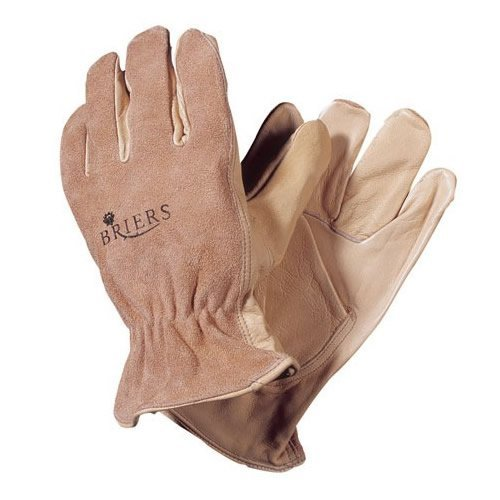 BRIERS DUAL LEATHER PROTECTIVE GENERAL USE GLOVES SIZE MEDIUM B0618