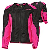 ScorpionExo Verano Women's Textile Sport Motorcycle Jacket (Pink, Large)