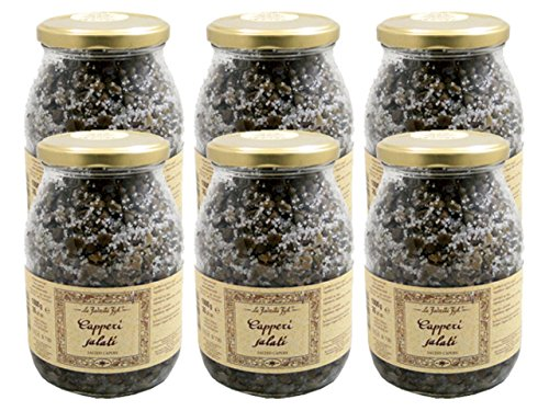 Salted Capers by La Favorita (Case of 6 - 35.27 Ounce Jars)