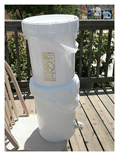 Gravity Feed Ceramic Water Filter System Complete with 2 - Buckets