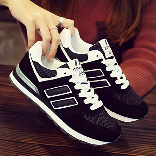 Match and Shoes Shoes color Shoes Flat black white Spring GUNAINDMX All Leisure 627 Lovers Color q7UUIw