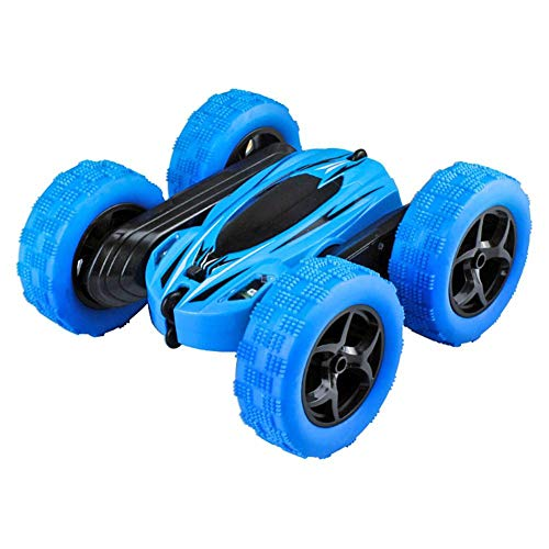 (Sikiwind Electric RC Stunt Car 2WD Off Road Remote Control Vehicle 2.4Ghz Racing Slot Cars High Speed 7.5Mph 360° Rolling Rotating Rotation(Battery Not Included) (Blue))