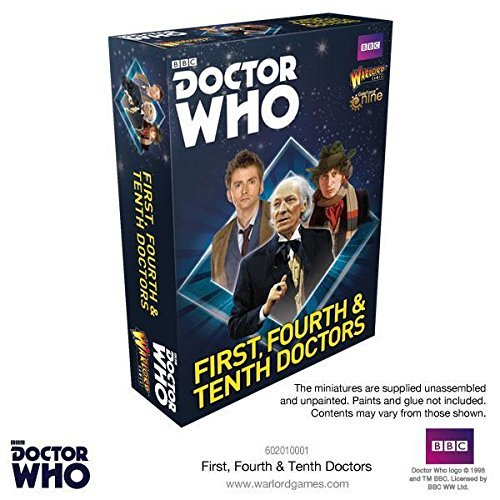 Doctor Who First, Fourth & Tenth Doctors for Exterminate! The Miniatures Game