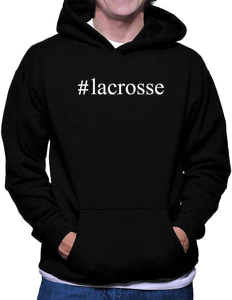 Teeburon Lacrosse Hashtag Hoodie M Black