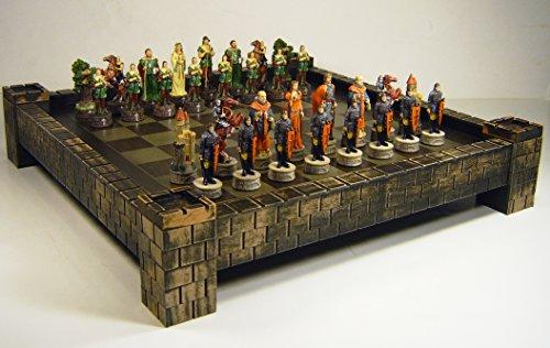 WW / HPL Medieval Times Robin Hood vs Sheriff of Nottingham Chess Set w/ 17