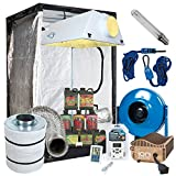 Cheap Complete 4 x 4 Grow Tent Package w/ 600W Sealed HPS HID, Digital Ballast, Filter, Fan and more