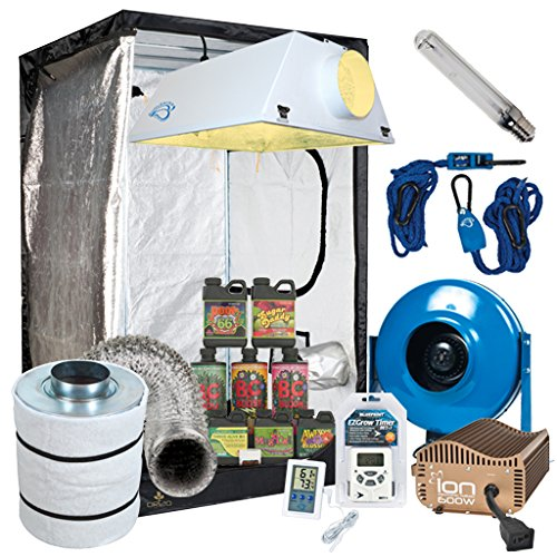 51H85Rv28tL Complete 4 x 4 Grow Tent Package w/ 600W Sealed HPS HID, Digital Ballast, Filter, Fan and more