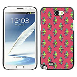 iKiki-Tech Estuche rígido para Samsung Galaxy Note 2 N7100 - Skull And Rose