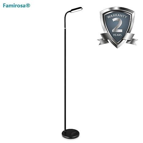 online store 80d09 b9bbc Upgraded Rechargeable Floor Lamp, Cordless LED Eye-Care Standing Lamp with  Brightness Adjustment Knob, Flexible Gooseneck Light for Living Room ...