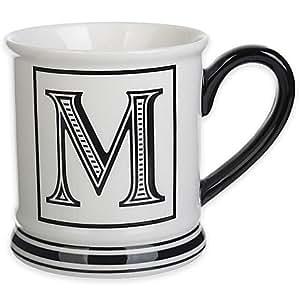 amazoncom formations block letter quotmquot monogram mug With letter mugs amazon