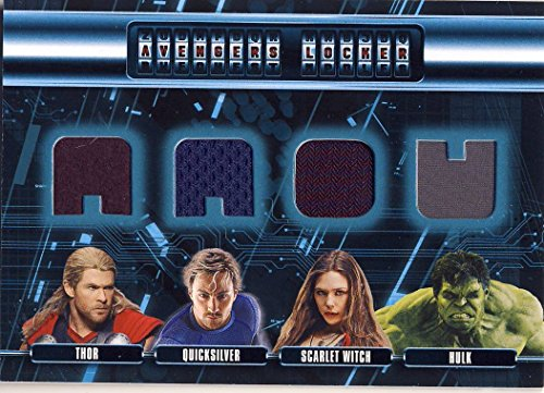 Age Of Ultron Quicksilver Costume (2015 Upper Deck UD Age of Ultron Trading Cards Avengers Locker Wardrobe/Costume Card AL4-TPWH Thor Quicksilver Scarlet Witch Hulk)