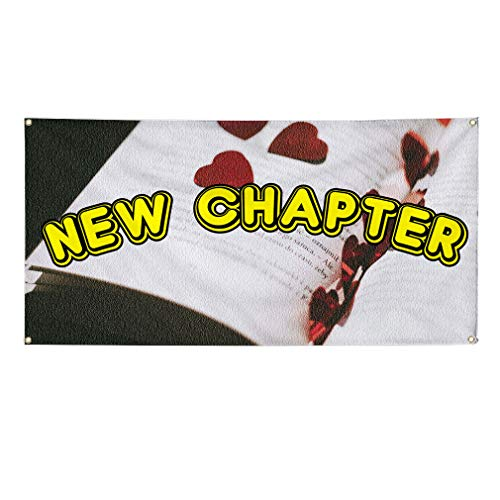 Vinyl Banner Sign New Chapter Lifestyle Edition Outdoor Marketing Advertising Yellow - 24inx48in (Multiple Sizes Available), 4 Grommets, Set of 5