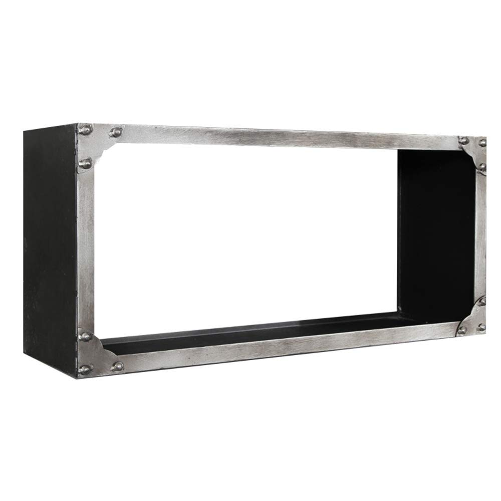 Shelf Büchergestell -Ausstellungsstand FernsehhinterGründ-Wandgestell der industriellen Windwand Schmiedeeisenregalwand (größe   65  20  30cm)  652030cm