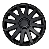1996 ford ranger wheel cover - TuningPros WSC-610B15 Hubcaps Wheel Skin Cover 15-Inches Matte Black Set of 4