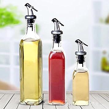 17 oz Olive Oil and Vinegar Dispenser Set Clear Glass Cruet Bottles for Cooking, Frying, Baking Vinegar Bottle Oil Dispenser Spray Bottle Asodomo