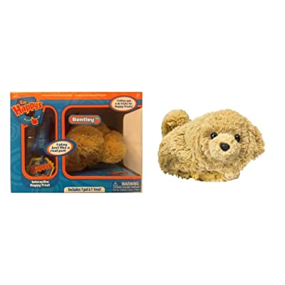 The Happy's Plush Pet that really Play! - Bentley Plush (Treat Included): Toys & Games