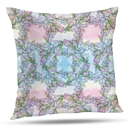 Collection Exotica (Batmerry Spring Pillows Decorative Throw Pillow Covers 18x18 Inch, Leaves and Branches are Composition Perfumery and Cosmetic Double Sided Square Pillow Cases Pillowcase Sofa Cushion)