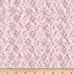Shannon Fabrics Minky Rose Cuddle Ice Pink Yard