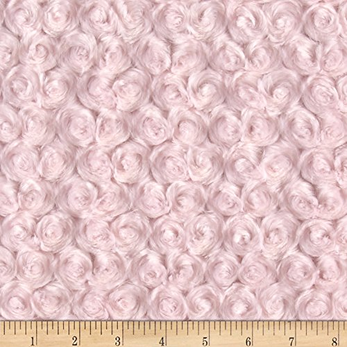 (Shannon Fabrics Shannon Minky Rose Cuddle Ice Pink Fabric by The Yard,)