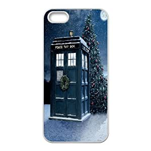 iPhone 5,5S Phone Case Doctor Who Tardis Police Call Box V8T91507