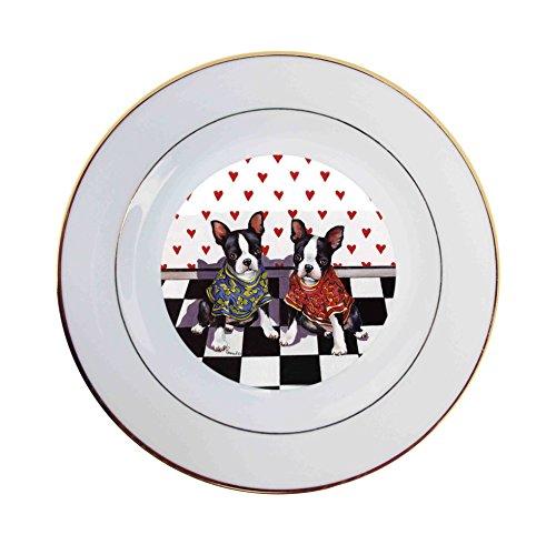 - Boston Terrier Puppy Love-Ceramic Plate
