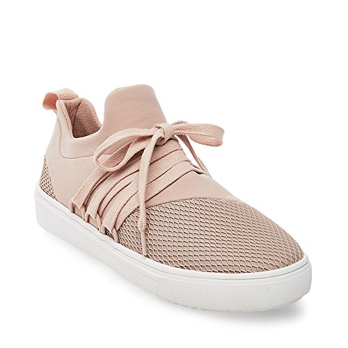 Steve Madden Women's Lancer Fashion Sneaker, Blush, 8.5 M US