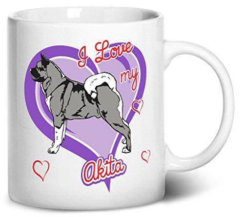 Tenacitee Akita Dog Coffee Mug, 11oz, White (Akita Coffee Mug)