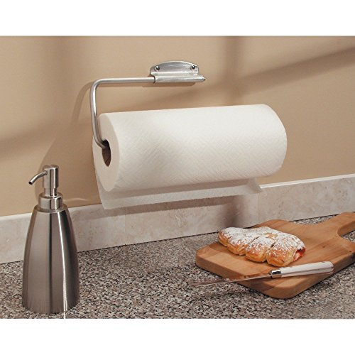 081492393702 - InterDesign Forma Swivel Paper Towel Holder for Kitchen - Wall Mount/Under Cabinet, Brushed Stainless Steel carousel main 3