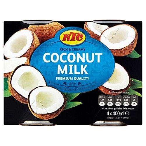 KTC leche de coco 4 x 400ml (Pack de 4x400ml)