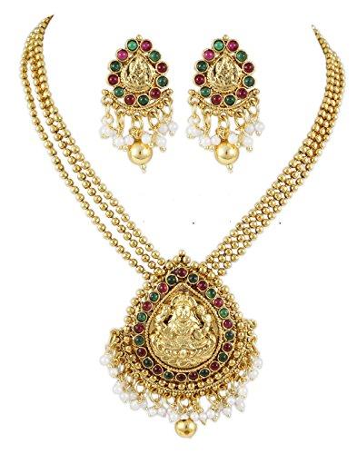 Karatcart 22K Goldplated Traditional Jewellery Set For Women