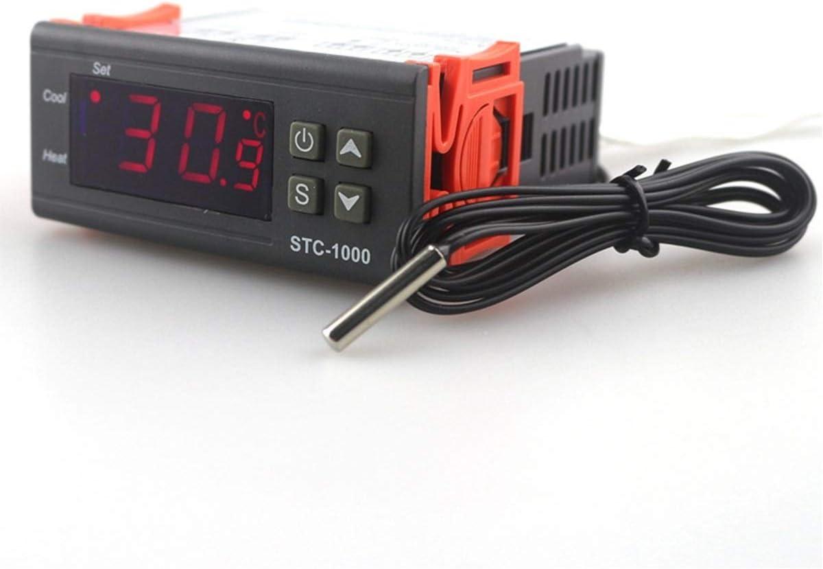 1 UNID Dos Salida de Relé LED Controlador de Temperatura Digital Termostato Incubadora STC-1000 110V 220V 12V 24V 10A con Calentador y Refrigerador (Size : 24V)