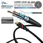 CSL-3m-Cavo-HDMI-4k-60Hz-HDR-HDMI-20-a-b-4K-3D-UHD-1080p-3D-HFR-Ethernet-Full-HD-1080p-Arc-e-CEC-schermatura-Tripla-e-schermatura-connettore-e-Contatto