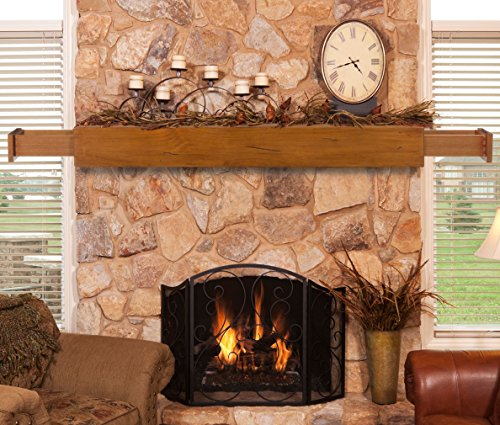 Pearl Mantels 400-72-50 Dakota 2-Drawer Storage Shelf, 72-Inch, Medium Rustic ()
