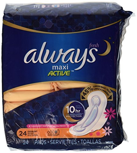 axi, Flexi-Wings, Overnight, Clean Fresh Scent, 24 pads by Always ()