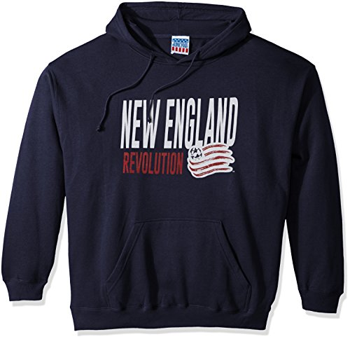 fan products of MLS New England Revolution Men's Long Sleeve Pullover Hoodie, Navy, Large