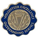 VolunteerGift's ''Outstanding Service'' Bulk Lapel Pin for Volunteers (50)